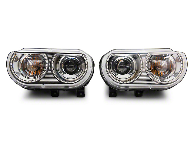 Oracle Headlight Assembly; Dynamic ColorSHIFT SMD Pre-Assembled Headlights, HID Style (08-14 All)