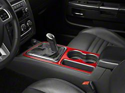 Alterum Shifter and Cup Holder Bezel Trim; Red Carbon (08-14 All)