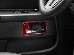 Alterum Interior Door Handle Trim; Red Carbon (08-14 All)