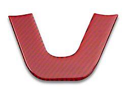 Alterum Steering Wheel Bottom Overlay; Red Carbon (15-21 All)