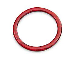 Alterum Start/Stop Button Outer Trim; Red Carbon (15-21 All)