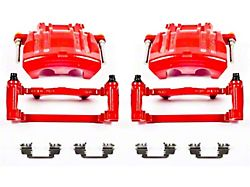 Power Stop Performance Front Brake Calipers; Red (12-21 GT, R/T, T/A; 12-21 SE, SXT w/ Dual Piston Front Caliper)