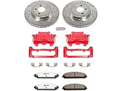 Power Stop Z26 Street Warrior Brake Rotor, Pad and Caliper Kit; Front (06-11 w/ Dual Piston Front Caliper)