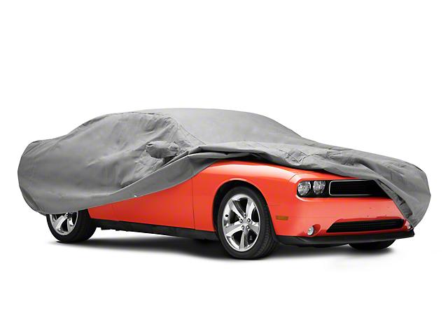 Custom Fit Car Cover; Gray (08-21 All)
