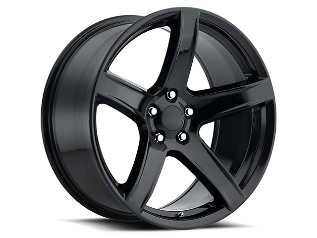 Hellcat HC2 Style Gloss Black Wheel; Rear Only; 20x11 (08-21 All, Excluding AWD & Demon)