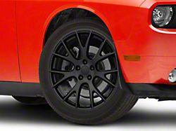 Hellcat Style Satin Black Wheel; 20x9.5 (08-21 All, Excluding AWD & Demon)