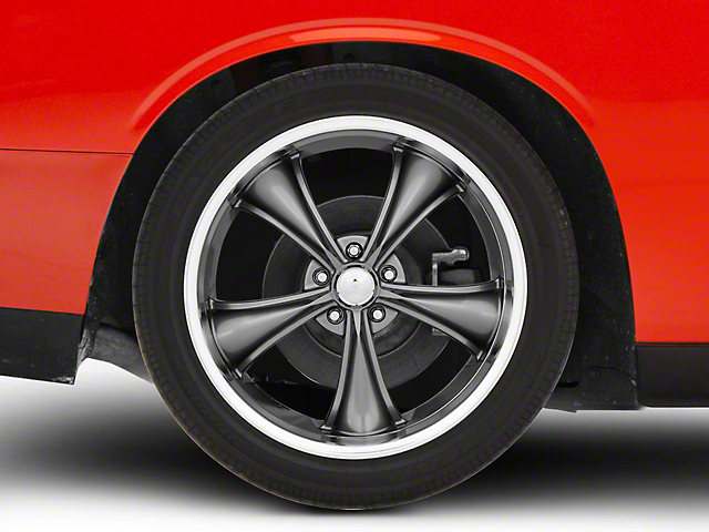 American Racing BOSS Graphite with Diamond Cut Lip Wheel; 20x10; Rear Only (08-21 All, Excluding AWD & Demon)