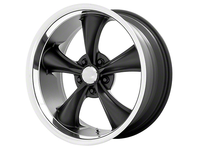 American Racing BOSS Textured Black with Diamond Cut Lip Wheel; 20x8.5 (08-21 All, Excluding AWD & Demon)