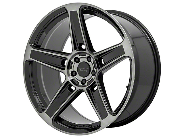 American Racing HELLION Gloss Black with Gray Tint Wheel; 22x10.5; Rear Only (08-21 All, Excluding AWD & Demon)