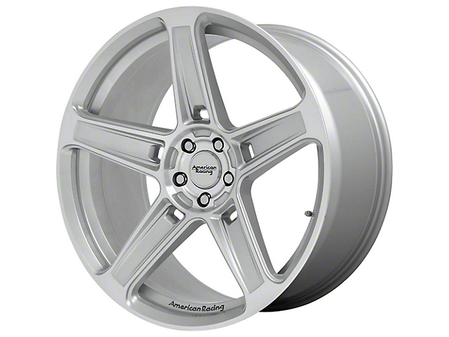American Racing HELLION Machined Silver Wheel; 20x9.5 (08-21 All, Excluding AWD & Demon)