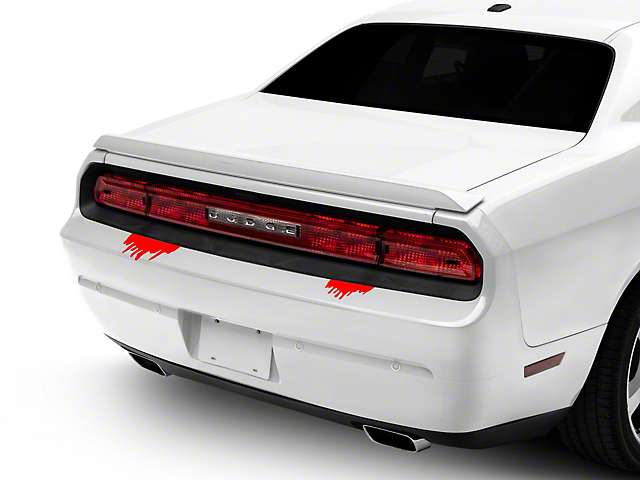 SEC10 Frightening Leaks Decal; Red (Universal; Some Adaptation May Be Required)