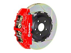 Brembo GT Series 8-Piston Front Big Brake Kit with 15-Inch 2-Piece Type 1 Slotted Rotors; Red Calipers (06-14 SRT8)