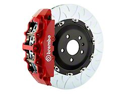 Brembo GT Series 8-Piston Front Big Brake Kit with 15-Inch 2-Piece Type 3 Slotted Rotors; Red Calipers (06-14 SRT8)