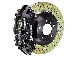 Brembo GT Series 6-Piston Front Big Brake Kit with 14-Inch 2-Piece Cross Drilled Rotors; Black Calipers (11-21 5.7L HEMI, V6)