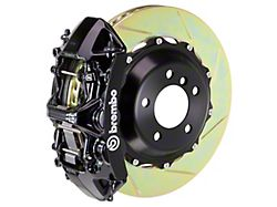 Brembo GT Series 6-Piston Front Big Brake Kit with 14-Inch 2-Piece Type 1 Slotted Rotors; Black Calipers (11-21 5.7L HEMI, V6)