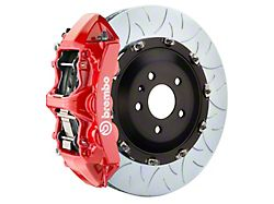 Brembo GT Series 6-Piston Front Big Brake Kit with 15-Inch 2-Piece Type 3 Slotted Rotors; Red Calipers (11-21 5.7L HEMI)