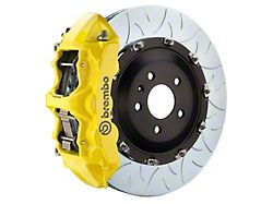 Brembo GT Series 6-Piston Front Big Brake Kit with 15-Inch 2-Piece Type 3 Slotted Rotors; Yellow Calipers (11-21 5.7L HEMI)
