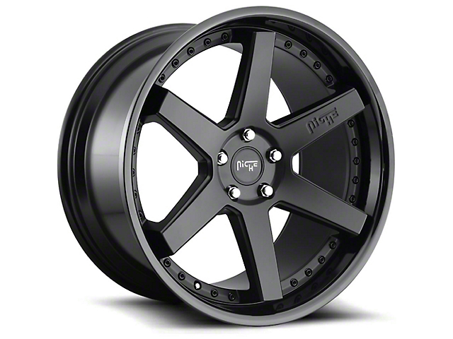 Niche Altair Gloss Black with Matte Black Lip Wheel; 20x9 (08-21 All, Excluding AWD)