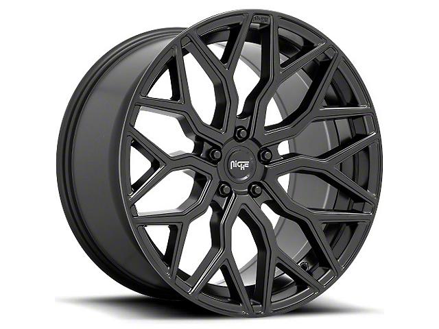 Niche Mazzanti Matte Black Wheel; Rear Only; 20x10.5 (08-21 All, Excluding AWD & Demon)