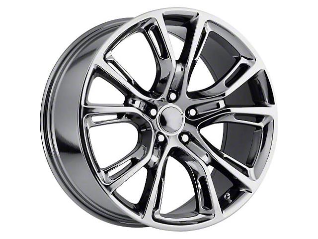 PR137 Black Chrome Wheel; 20x9 (08-21 All, Excluding AWD, Demon & Hellcat)