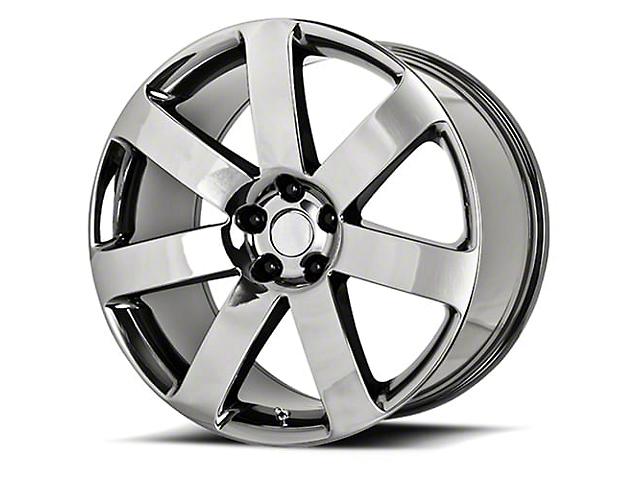 PR138 Black Chrome Wheel; 20x9 (08-21 All, Excluding AWD, Demon & Hellcat)