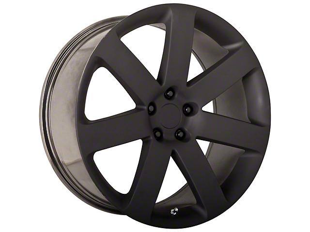 PR138 Matte Black Wheel; 20x9 (08-21 All, Excluding AWD, Demon & Hellcat)