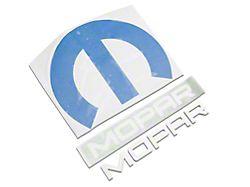 Omega M and MOPAR Letter Trunk or Hood Emblems; Brushed (08-21 All)