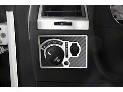 Light Control Trim; Plate; Center; With Manual Fog Light; Carbon Fiber; Inlay (08-14 V8 HEMI)
