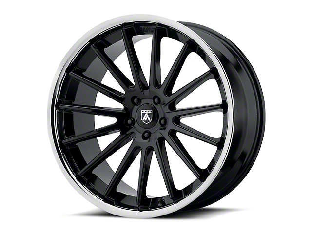 Asanti Beta Gloss Black with Chrome Lip Wheel; Rear Only; 20x10.5 (08-21 All, Excluding AWD & Demon)