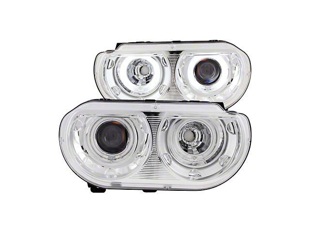 CCFL Halo Projector Headlights; Chrome Housing; Clear Lens (08-14 w/ Factory Halogen Headlights)
