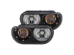Crystal Headlights; Black Housing; Clear Lens (08-14 w/ Factory Halogen Headlights)