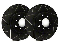 SP Performance Peak Series Slotted Rotors with Black Zinc Plating; Front Pair (08-14 SRT8; 15-16 Scat Pack; 2017 R/T 392; 18-21 w/ 4-Piston Front Caliper)