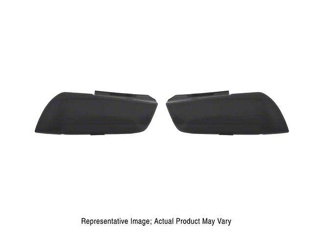 Headlight Covers; Carbon Fiber Look (11-14 All)
