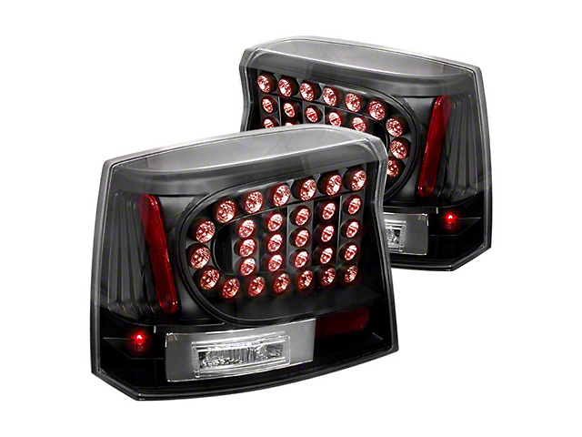 LED Tail Lights; Black Housing; Clear Lens (06-08 All)