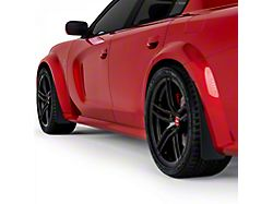 Mud Flaps; Front and Rear; Dry Carbon Fiber (20-21 Widebody)