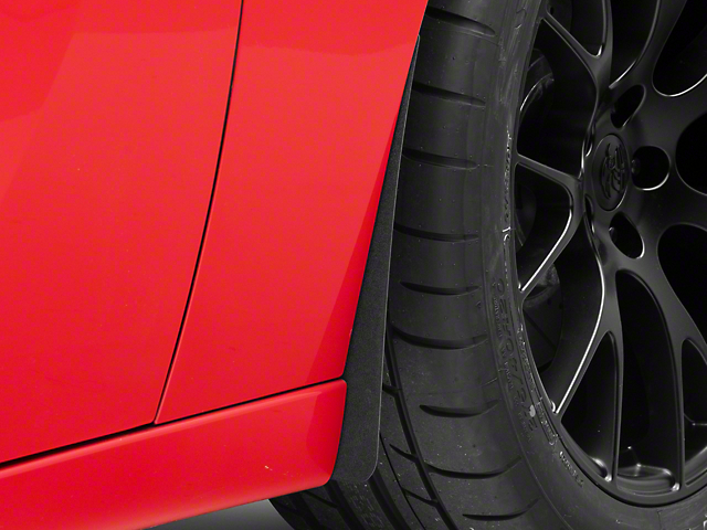Mud Flaps; Front and Rear; Textured Black (15-21 All, Excluding Widebody)