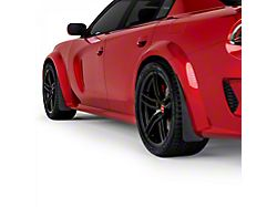 Mud Flaps; Front and Rear; Textured Black (20-21 Widebody)