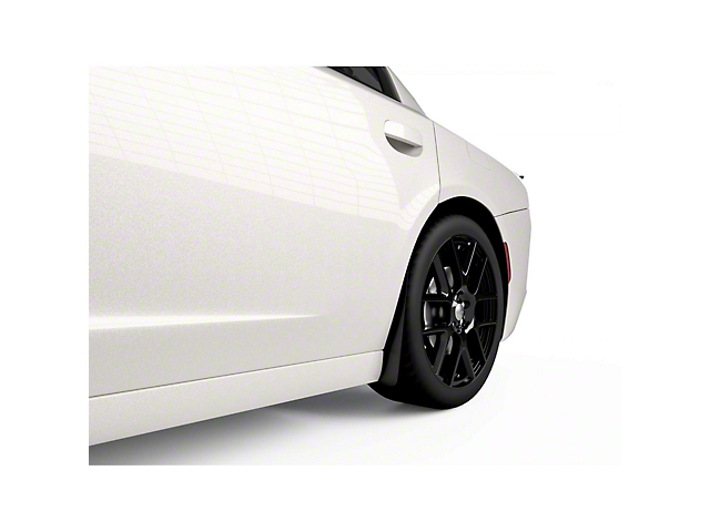 Mud Flaps; Rear; Gloss Carbon Fiber (15-21 All, Excluding Widebody)