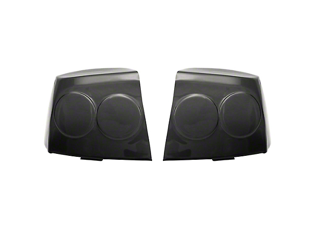 Tail Light Covers; Smoked (09-10 All)