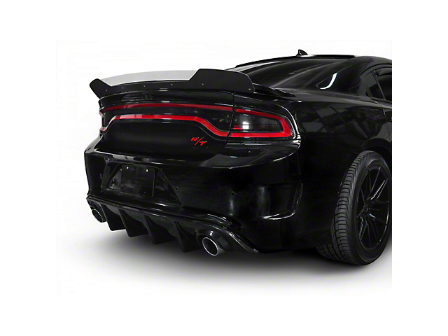 V3R Style Wicker Bill Rear Spoiler Add-On; Gloss Carbon Fiber (15-21 All)
