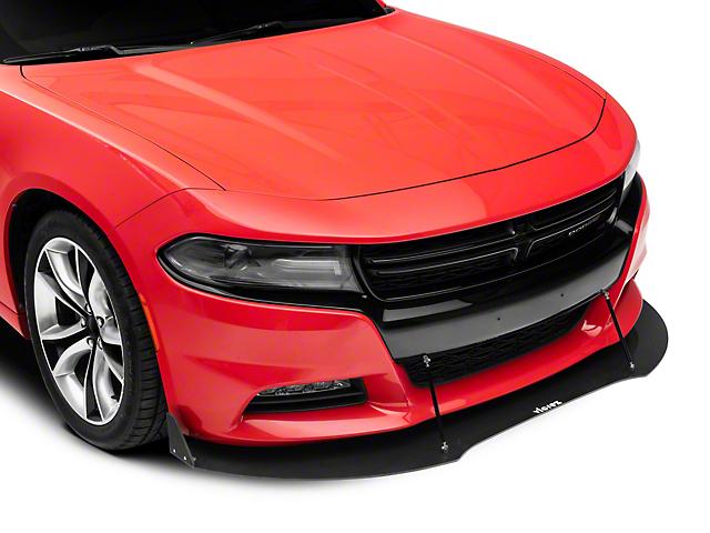 VZ3 Style Front Chin Splitter; Gloss Carbon Fiber (15-21 All)