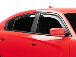 Weathertech Side Window Deflectors; Front and Rear; Dark Smoke (11-21 All)