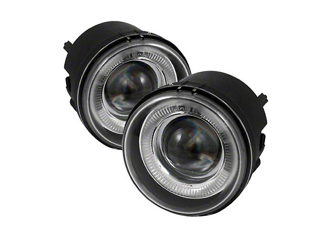 Halo Projector Fog Lights with Switch; Clear (06-10 All)