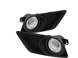 Halo Projector Fog Lights with Switch; Clear (11-14 All)