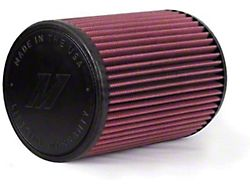 Mishimoto Air Filter; Performance; 4-Inch Inlet; 7-Inch Filter Length; Red (Universal; Some Adaptation May Be Required)