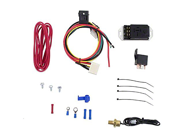 Mishimoto Engine Cooling Fan; Adjustable Fan Controller Kit (Universal Fitment)