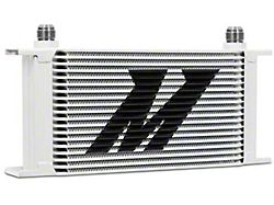 Mishimoto Universal 19-Row Oil Cooler; White (Universal; Some Adaptation May Be Required)