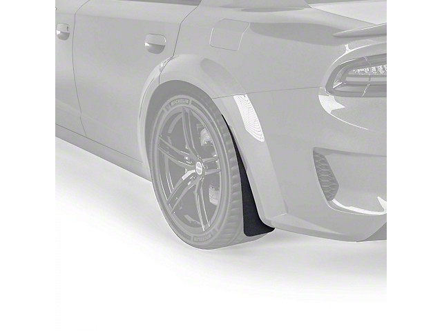 Mud Flaps; Rear; Textured Black (20-21 Widebody)