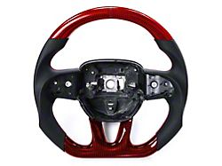 OEM Carbon Fiber Steering Wheel with Red Carbon Fiber Inlay (15-21 All)