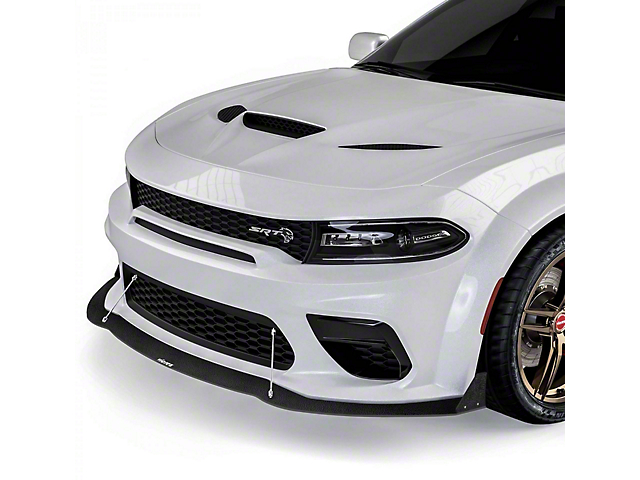 VR2 Front Bumper Lip Splitter; Textured Black (20-21 Widebody)